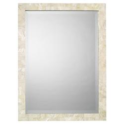 Andre Modern Classic Rectangular Ivory Shell Wall Mounted Mirror
