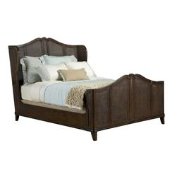 Avery Casual Cottage French Caned Rich Brown Finish King Bed | BMS-5000.66.BO