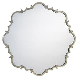 Nico Modern Classic Novelty Silver Metal Wall Mounted Mirror