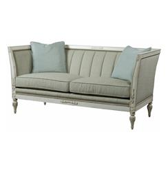 Barclay Vintage Ivory French Louis XVI Sage Frost Carved Settee