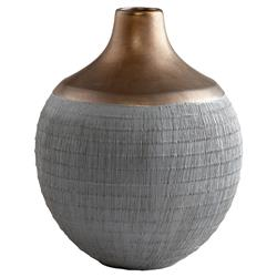 Doha Global Bazaar Grey Bronze Ceramic Vase - Small