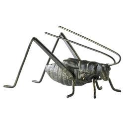 Gomer Rustic Lodge Raw Steel Decorative Cricket Sculpture