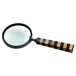 Bowman Industrial Loft Bronze Metal Decorative Magnifying Glass