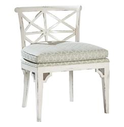 Orleans French Cottage Distressed White Dining Chair | BMS-403.VI