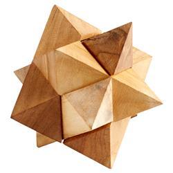 Watts Industrial Loft Natural Wood Decorative Puzzle Sculpture