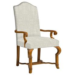 Crawford French Country Camel Back Dining Arm Chair