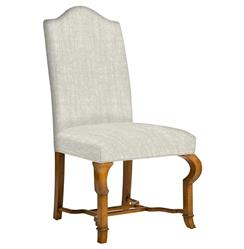 Crawford French Country Camel Back Dining Side Chair
