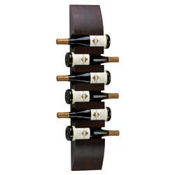 Zin Modern Classic Mahogany Wood Wall Wine Rack