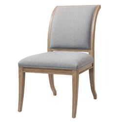 Isabelle Pavilion Regency Light Grey Blue Dining Side Chairs