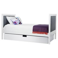 ducduc Cabana Modern Charcoal Upholstered White Trundle Daybed - Full