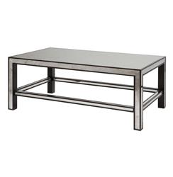 Daphne Hollywood Regency Espresso Antique Mirror Coffee Table | BMS-4045.EL