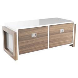 ducduc Campaign II Modern White Bleached Walnut Stacking Dresser