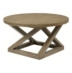 Modern Casual Distressed Taupe Gray Landon Cocktail Table | BMS-5008.BW
