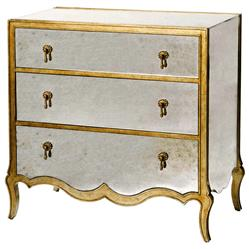 Corinne Hollywood Regency French Mirrored Dresser