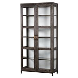 Maison 55 Emerson Modern Classic Wood Clear Glass 2 Door China Cabinet
