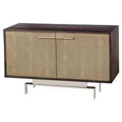 Thomas Bina Latham Modern Classic Wood 2 Shagreen Door Buffet Sideboard