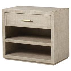 Maison 55 Raffles Modern Classic Wood Frame 1 Drawer Nightstand