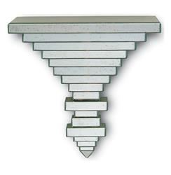 Hollywood Regency Geometric Cut Glass Wall Shelf Bracket | CC-1031