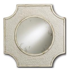 Crushed Shell Coastal Beach Antique White Elegant Mirror