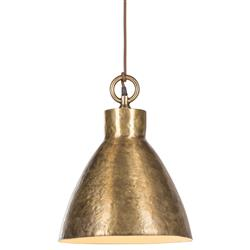 Nellcote Chase Modern Classic Gold Metal Shade Pendant Lantern - Large