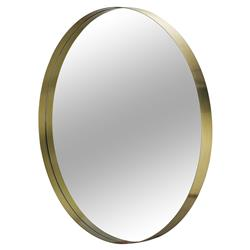 Maison 55 Darcy Modern Classic Round Gold Metal Framed Wall Mirror - Large - 48D