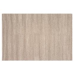 Resource Decor Europa Modern Classic Brown Wool Solid Rug - 5' x 8'