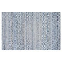 Resource Decor Infinity Modern Classic Blue Denim Solid Rug - 5' x 8'