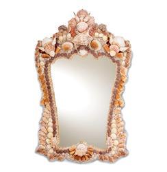 "Bonita Beach Large Decorative 39""H Clustered Shell Mirror"