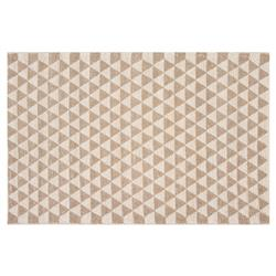 Resource Decor Mona Modern Classic Beige Wool Patterned Rug - 5' x 8'