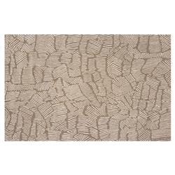 Resource Decor Organic Modern Classic Brown Wool Solid Rug - 5' x 8'