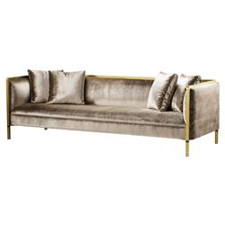Awe Inspiring Andrew Martin Reagan Modern Classic Upholstered Wood Gold Metal Frame Sofa Caraccident5 Cool Chair Designs And Ideas Caraccident5Info