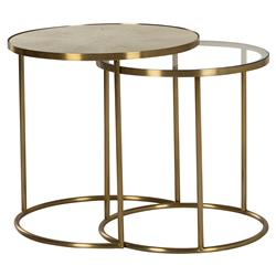 Maison 55 Ringo Modern Classic Round Gold Metal Frame Side End Table
