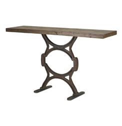 Industrial Chic Reclaimed Wood Factory Console Table | Kathy Kuo Home