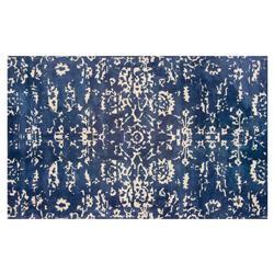 Resource Decor Senna Global Bazaar Blue Beige Wool Patterned Rug - 5' x 8'