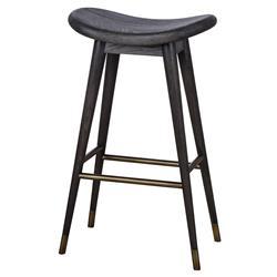 Thomas Bina Smith Mid Century Black Wood Bar Counter Stool
