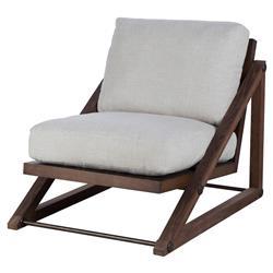 Thomas Bina Teddy Modern Classic Grey Fabric Wood Frame Occasional Chair