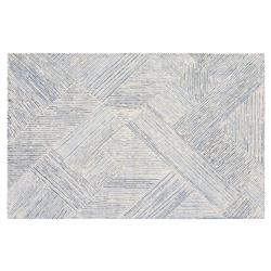 Resource Decor Vaughan Modern Classic Blue White Denim Solid Rug - 5' x 8'