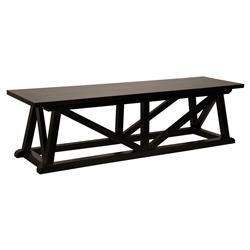 Jace Coastal Beach Black Mahogany Bench