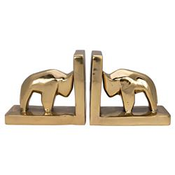 Asher Modern Classic Gold Buffalo Brass Bookend