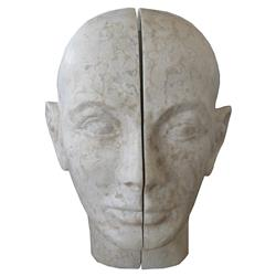 Bentley Global Bazaar Grey Stone Split Head Sculpture
