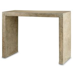 Harrison Beige Polished Concrete Industrial Rustic Console Table | Kathy Kuo Home