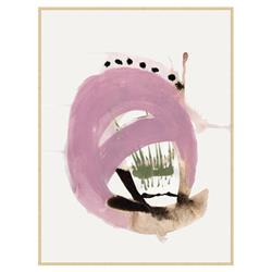 Zoey Modern Classic Abstract Purple Framed Canvas Art