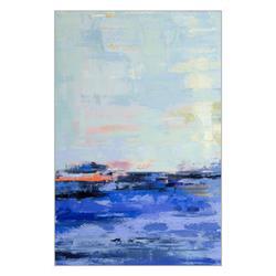 Maya Coastal Beach Blue Framed Art - I