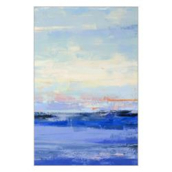 Maya Coastal Beach Blue Framed Art - II