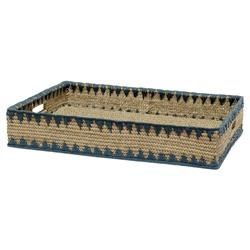 Palecek Modern Classic Mojave Hand-braided Natural Buri Rectangular Tray