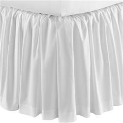 Peacock Alley Soprano Modern White Cotton Sateen Ruffled Bed Skirt - Cal King