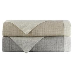 Peacock Alley Modern Angelo Reversible Blanket - Linen Queen