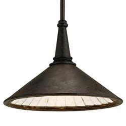 Hailey Industrial Loft Black Metal Pendant