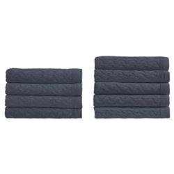 Peacock Alley Modern Majorca Throw Blanket - Navy