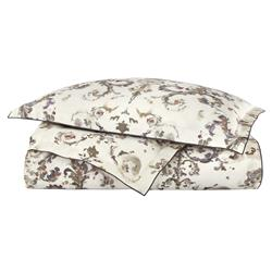 Peacock Alley FrenchCountry Alena Printed Sateen Duvet Cover - Linen Queen